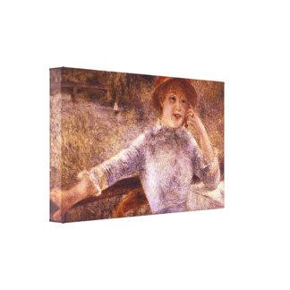Pedro Renoir - la Grenouillere del En Impresiones En Lona Estiradas