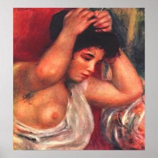 Pedro Renoir - peluquería de la mujer joven Impresiones