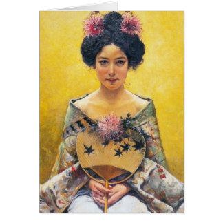 Pedro Sáenz 1864-1924 japonesa de Disfraz Felicitación