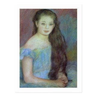 Pedro una chica joven de Renoir el | con los ojos Postal