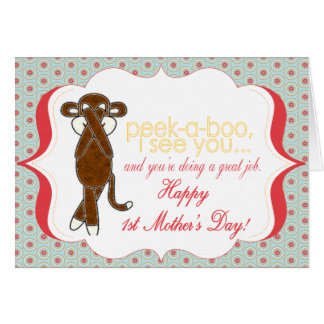 Peekaboo la primera tarjeta del día de madre