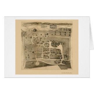 Peekskill en el Hudson, mapa panorámico de NY - Tarjeta De Felicitación