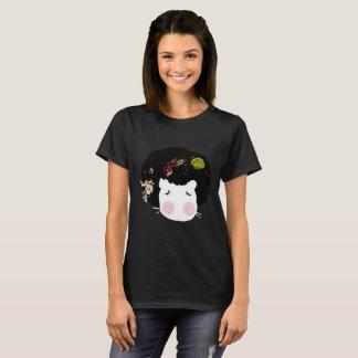 Pega la camiseta animal del gráfico de AfroHair