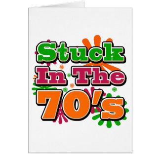 Pegado en los años 70 tarjeta de felicitación