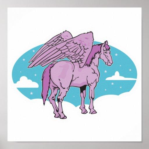 Pegaso púrpura poster