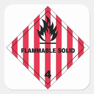 Pegatina 1.5inch del riesgo de incendios