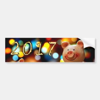 Pegatina 2017 de la Feliz Año Nuevo