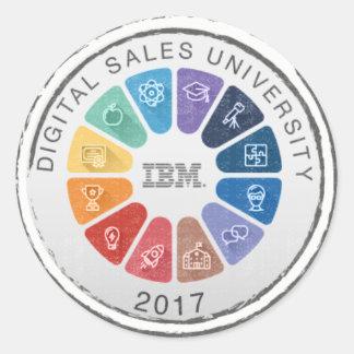 Pegatina 2017 de la universidad de las ventas de