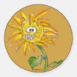 Pegatina 6 de Clipart del girasol