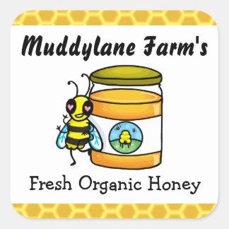 Pegatina adaptable del tarro de la miel