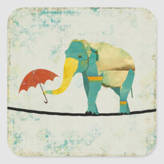 Pegatina agraciado del elefante del oro