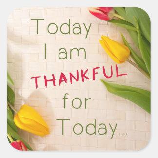 Pegatina agradecido