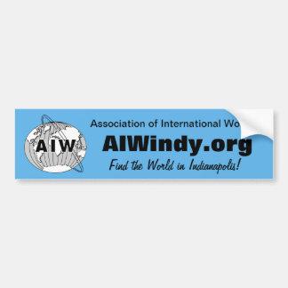 Pegatina-AIW de parachoques Logo-AIWindy.org - enc Etiqueta De Parachoque