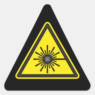 Pegatina amarillo y negro de la advertencia de
