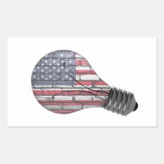 Pegatina americano de la innovación de la ayuda