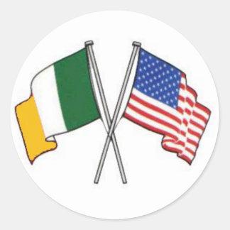 Pegatina americano irlandés