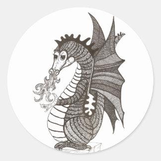 Pegatina amistoso del dragón