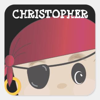Pegatina amistoso personalizado del pirata