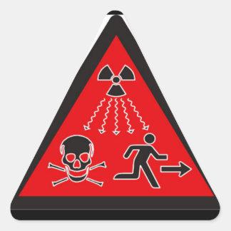 Pegatina amonestador de la radiación - estilo de