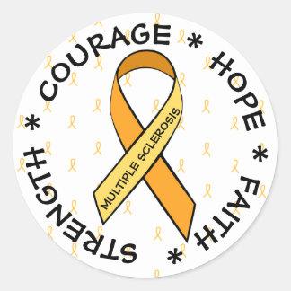 Pegatina ANARANJADO de la cinta de la esclerosis