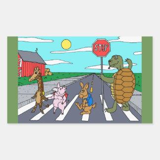 Pegatina animal del paso de peatones