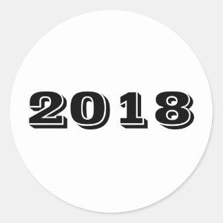 Pegatina - año 2018