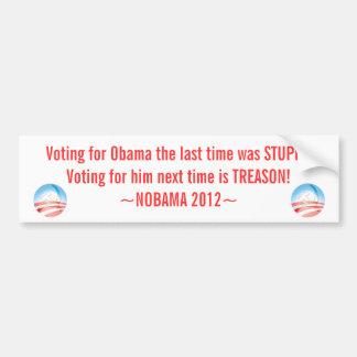 Pegatina anti de Obama, NOBAMA 2012, Pegatina Para Coche