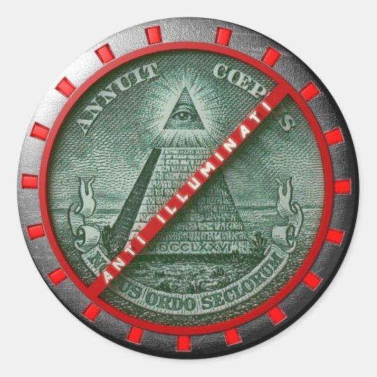 Pegatina  Anti Illuminati