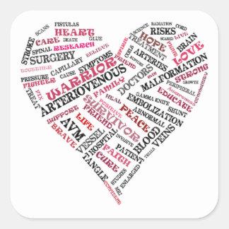 Pegatina arteriovenoso del corazón de la palabra