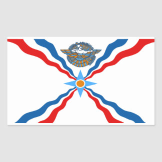 Pegatina asirio de la bandera, mate