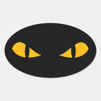 Pegatina asustadizo de Halloween de los ojos de