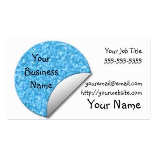 Pegatina azul claro del brillo tarjetas de visita