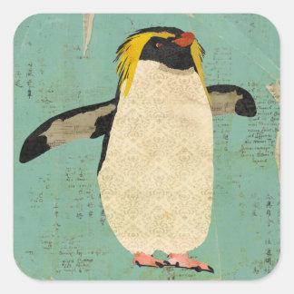 Pegatina azul de la laguna del pingüino