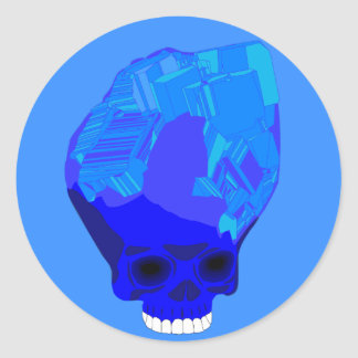 pegatina azul del cráneo