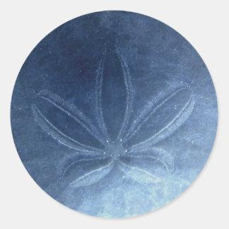 Pegatina azul del dólar de arena