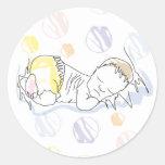 Pegatina bebé dormido