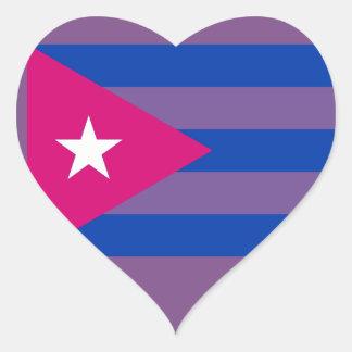 Pegatina bisexual del orgullo cubano LGBT del BI