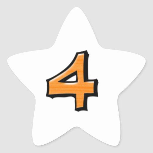Pegatina blanco anaranjado de la estrella del