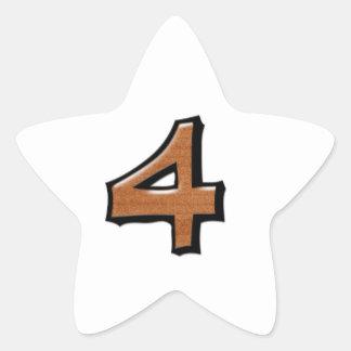 Pegatina blanco de la estrella del chocolate tonto