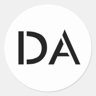 Pegatina blanco del logotipo de DA