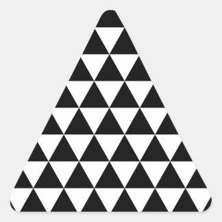 Pegatina blanco y negro del triángulo brillante