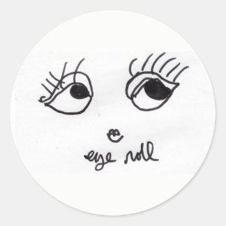 Pegatina bonito del chica del rollo del ojo