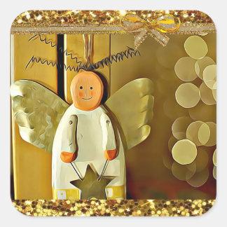 Pegatina bonito del navidad del ángel del navidad