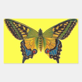 Pegatina brillante de la mariposa