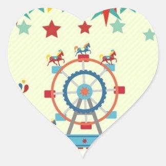 pegatina brillante del circo de la forma del