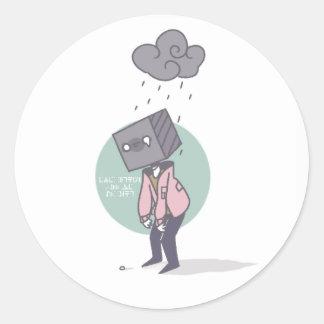 Pegatina brillante del día lluvioso