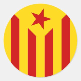 Pegatina catalán de la bandera