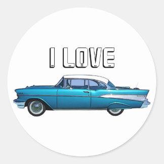 Pegatina clásico 1957 del personalizado de Chevy