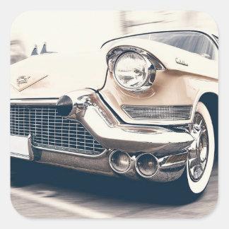 Pegatina clásico antiguo del coche