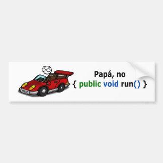 Pegatina coche - Para papás programadores... Pegatina Para Coche